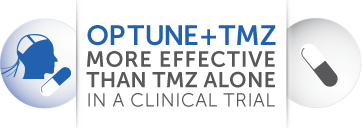 Optune® and TMZ combined is more effective than TMZ alone in a clinical trial