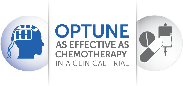 Optune is as effective as chemotherapy in a clinical trial