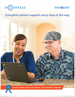 nCompass™ support brochure for assistance and guidance every step of the way while using Optune® for glioblastoma (GBM)