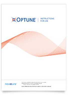 Optune® instructions for use as a treatment for glioblastoma (GBM)