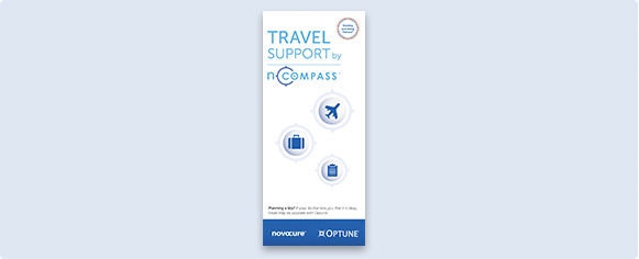 Travel Support by nCompass™ brochure explains nCompass travel support that is available before, during, and after your trip